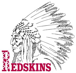 Redskins Logo embroidery design