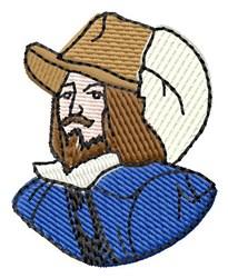 Pilgrim Man embroidery design