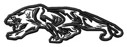 Panther Mascot embroidery design