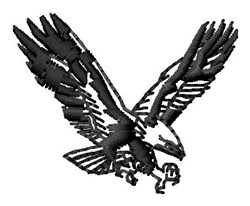 Attack Eagle embroidery design