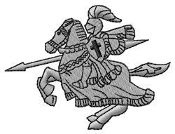 Crusader embroidery design