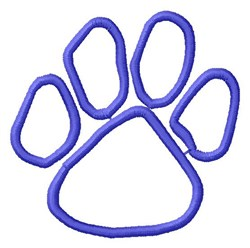 Paw Outline embroidery design