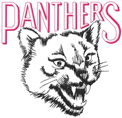 Panthers Mascot embroidery design