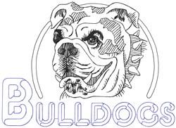 Bulldogs Mascot embroidery design