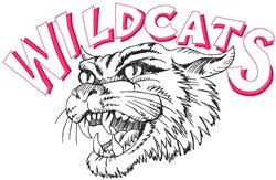 Wildcats Mascot embroidery design