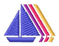 Sailboat Rainbow embroidery design