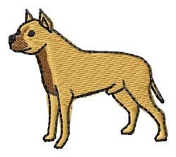 Mastiff embroidery design