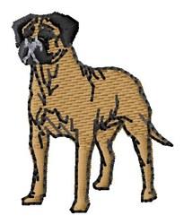 Bull Mastiff embroidery design