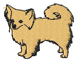 Long Coat Chihuahua embroidery design