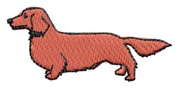 Long Haired Dachshund embroidery design