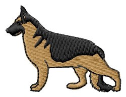 German Shepherd embroidery design