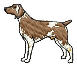 German Pointer embroidery design