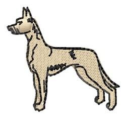 Great Dane embroidery design