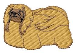 Pekingese embroidery design