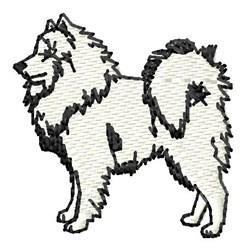 Samoyed embroidery design