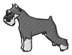 Schnauzer embroidery design