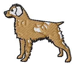 Retriever embroidery design