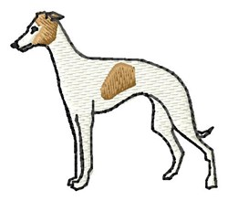 Whippet embroidery design