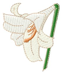 Easter Lily embroidery design