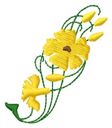 Yellow Floral embroidery design