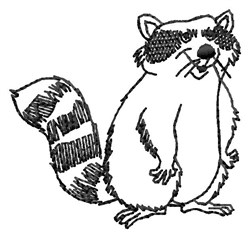 Raccoon Outline embroidery design