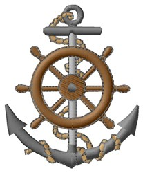 Anchor and Wheel embroidery design