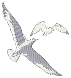 Seagulls embroidery design