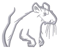 Rat Topper embroidery design