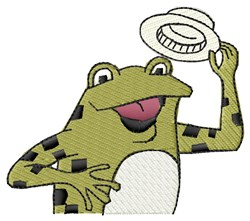 Frog Topper embroidery design