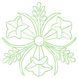 Lily Quilt embroidery design