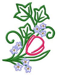 Tulip Floral embroidery design