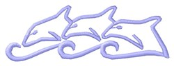 Dolphins Outline embroidery design