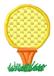 Ball On Tee embroidery design