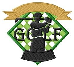 Golf Logo embroidery design