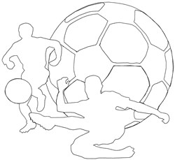 Soccer  Outline embroidery design