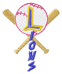 Lions Baseball embroidery design