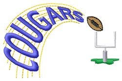 Cougars Football embroidery design