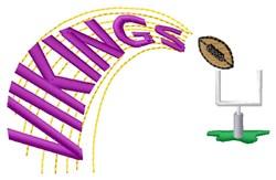 Vikings Football embroidery design
