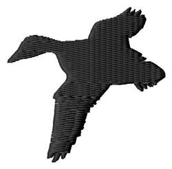 Silhouette Duck embroidery design