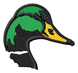 Mallard Head embroidery design