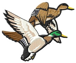 Mallard Ducks embroidery design