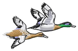Flying Ducks embroidery design