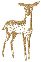 Fawn embroidery design