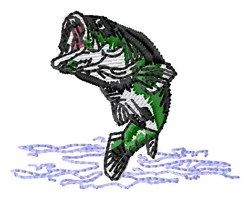 Bass Jump embroidery design