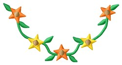 Star Flowers embroidery design