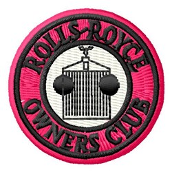 Rolls Royce Club embroidery design