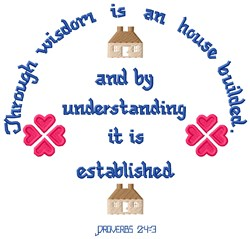 Proverbs 24:3 embroidery design
