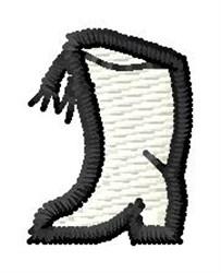 Majorette Boot embroidery design