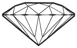 Diamond Outline embroidery design