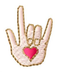 Sign Love embroidery design